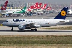 D-AILA Lufthansa, Airbus A319-114 Stockfotografie