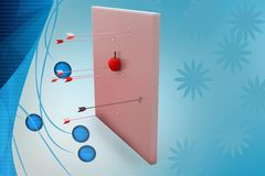 3d aim apple illustration Stock Images