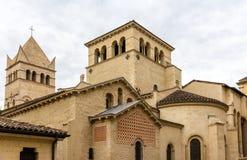 D'Ainay basilika av St Martin, 11th århundradekyrka i Lyon, F Arkivfoto