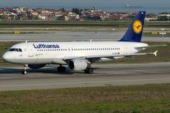 D-AIPH Lufthansa, flygbuss A320 - 200 namngav MÃ-¼nster Arkivfoton