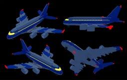 3d aiplanes in de nacht Royalty-vrije Stock Fotografie