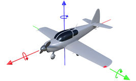 3d aircraft flight axis Royalty Free Stock Photo