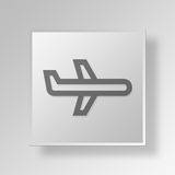 3D airline icon Business Concept vector illustration