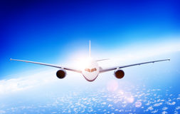 3d Airplane Aircraft Flight Flying Vacation Illustration Concept Stock Images