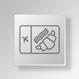 3D Airplane Food icon Business Concept Royalty Free Stock Images