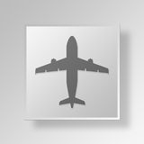 3D Airplane icon Business Concept Stock Photography