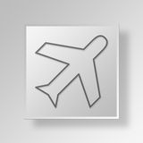 3D Airplane icon Business Concept Royalty Free Stock Photography