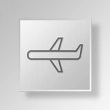 3D Airplane icon Business Concept Stock Photo