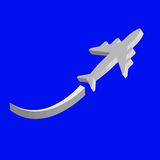 3d airplane  icon. Sign graphic web  icon Stock Photos