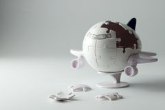3D airplane puzzle Royalty Free Stock Photos
