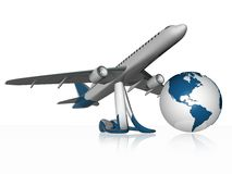 3d airplane Royalty Free Stock Image