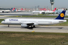 D-AISR Lufthansa, Airbus A321-200 Fotografía de archivo libre de regalías