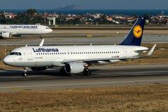 D-AIUB Lufthansa, Airbus A320-200 Fotografia de Stock