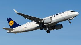 D-AIUL Lufthansa , Airbus A320-200. D-AIUL is airborne runway 17R at Istanbul Ataturk Airport LTBA, October 27, 2018 stock images