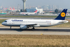 D-AIZC Lufthansa Airbus A320-214 Fotografia de Stock