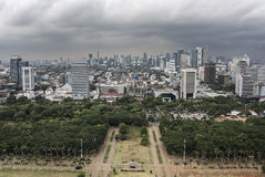 Dżakarta miasta panorama Obraz Stock