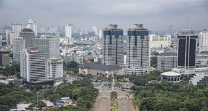 Dżakarta miasta panorama Obraz Royalty Free