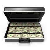 3d Aktentashoogtepunt van dollars Stock Foto's