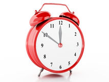 3d Alarm clock. 3d illustration. Alarm clock on isolted white background Royalty Free Stock Images