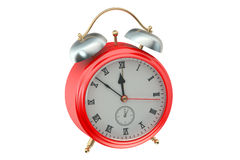 3D Alarm Clock. On white background Stock Images