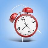 3d alarm shiny clock. Isolated royalty free illustration