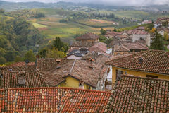 D'Alba de Serralunga, Langhe, Itália Fotos de Stock
