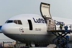 D-ALCE Lufthansa McDonnell Douglas MD-11F MERHABA TURCJA Zdjęcia Stock