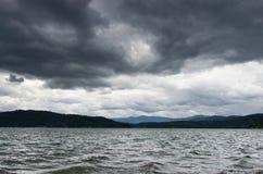 D Alene di Coeur del lago con la tempesta sopraelevata Fotografie Stock Libere da Diritti
