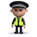 3d Alert police officer Royalty Free Stock Photography