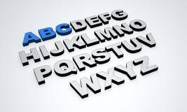 3d alfabet Royalty-vrije Stock Afbeelding