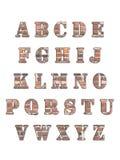 3D alfabetbrieven Stock Foto