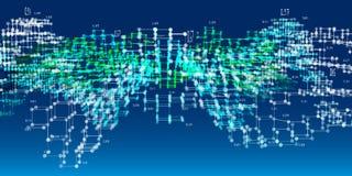 3d algoritmen van de diagramanalyse Grote Gegevens De abstracte achtergrond van analyseinfographics Vector illustratie royalty-vrije stock afbeelding