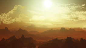 3D alien landscape Royalty Free Stock Photo
