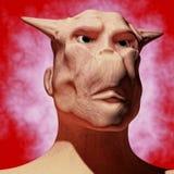 3d alien portrait. 3d futuristic SCIFI alien portrait Stock Photos