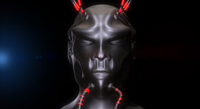 3d alien portrait. 3d futuristic SCIFI alien portrait Stock Images