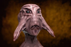 3d alien portrait. 3d futuristic SCIFI alien portrait Stock Photo