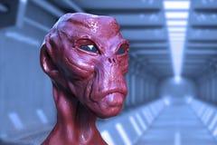 3d alien portrait Royalty Free Stock Images