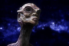 3d alien portrait. 3d futuristic SCIFI alien portrait Royalty Free Stock Images