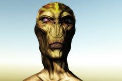 3d alien portrait. 3d futuristic SCIFI alien portrait Stock Image