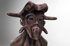 3d alien portrait. 3d futuristic SCIFI alien portrait Royalty Free Stock Photos