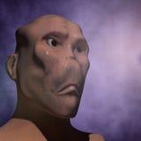3d alien portrait. 3d futuristic SCIFI alien portrait Royalty Free Stock Images