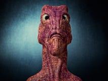 3d alien portrait. 3d futuristic SCIFI alien portrait Stock Photo