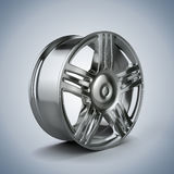 3d alloy wheel. On white background Stock Image