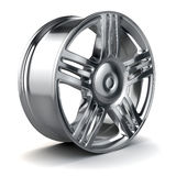 3d alloy wheel. On white background Royalty Free Stock Images