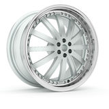 3d Alloy. 3d wheels  in the background Stock Image