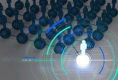 3d allument le réseau et la direction sociaux humains croissants Image libre de droits