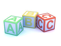3d Alphabet blocks Stock Photos