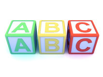 3d Alphabet blocks Royalty Free Stock Photo