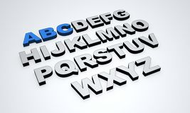 3d alphabet Royalty Free Stock Image