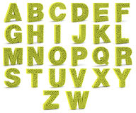 3D alphabet letters made from tennis balls Royalty Free Stock Image